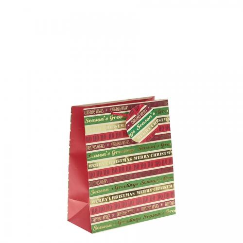 Season's Greetings Christmas Gift Bag – Medium x 1pc