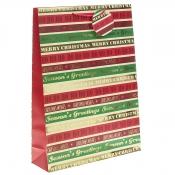 Season's Greetings Christmas Gift Bag – Extra Large x 1pc