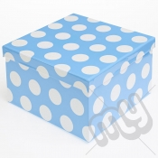 Blue Polka Dot Glitter Luxury Gift Box - SIZE 1