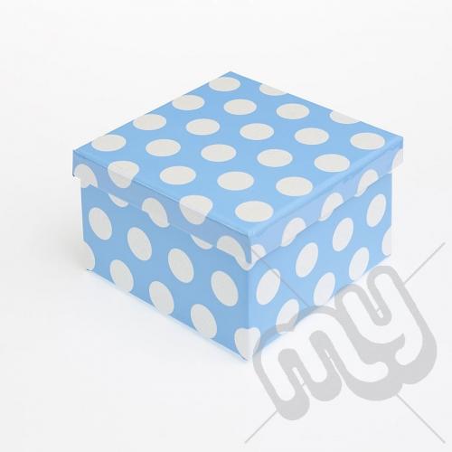 Blue Polka Dot Glitter Luxury Gift Box - SIZE 4
