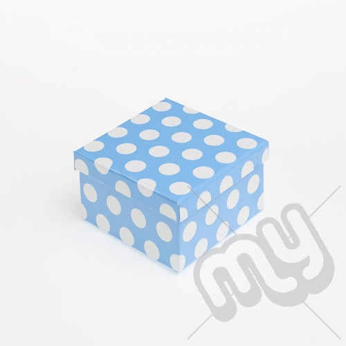 Blue Polka Dot Glitter Luxury Gift Box - SIZE 6