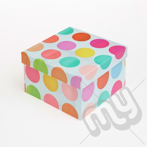 Multicoloured Spotted Luxury Gift Box - SIZE 4