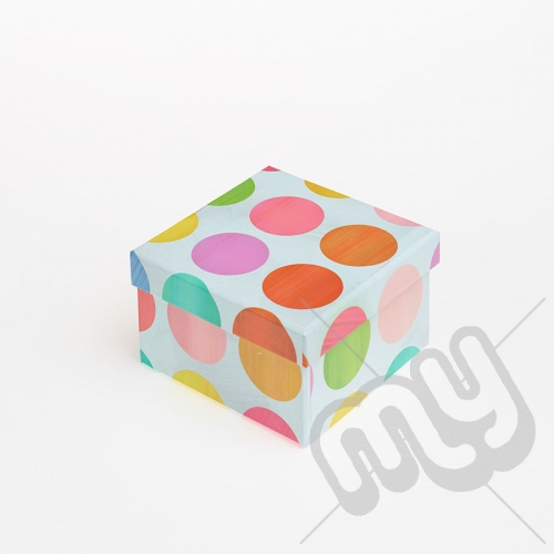 Multicoloured Spotted Luxury Gift Box - SIZE 6