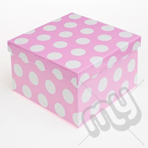 Pink Polka Dot Glitter Luxury Gift Box - SIZE 2