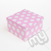 Pink Polka Dot Glitter Luxury Gift Box - SIZE 4