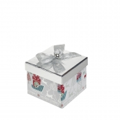 A Magical Silver Square Christmas Gift Box – Large