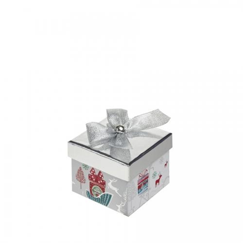A Magical Silver Square Christmas Gift Box – Medium