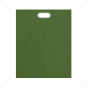 Harrods Green Patch Handle Fashion Carrier Bags 38x46+8cm x 100pcs