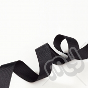 Black Grosgrain Ribbon 25mm x 20 metres