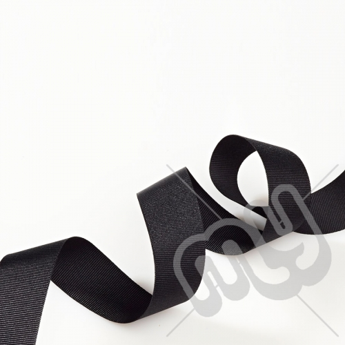 Black Grosgrain Ribbon 15mm x 20 metres