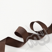 Chocolate Brown Grosgrain Ribbon 25mm x 20 metres