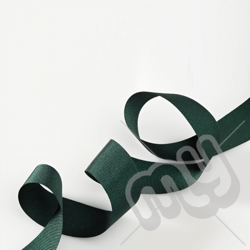 Green Grosgrain Ribbon 25mm x 20 metres