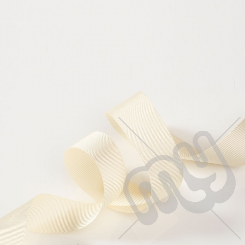 Ivory Grosgrain Ribbon 25mm x 20 metres