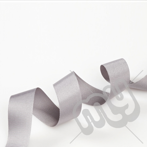Silver Grosgrain Ribbon 15mm x 20 metres