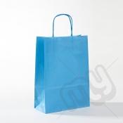 Blue Kraft Paper Bags with Twisted Handles - Medium x 25pcs