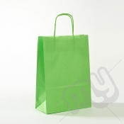 Green Kraft Paper Bags with Twisted Handles - Medium x 25pcs