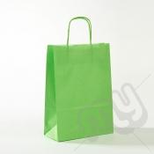 Green Kraft Paper Bags with Twisted Handles - Medium x 25pcs