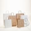 Brown & White Kraft Twisted Paper Carrier Bags