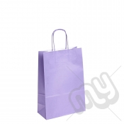 Lilac Purple Kraft Paper Bags with Twisted Handles - Medium x 25pcs