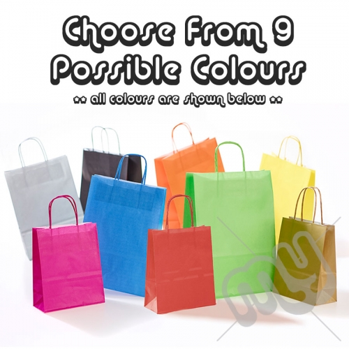 Kraft Paper Bags with Twisted Handles, Mixed Pack - Small x 50pcs