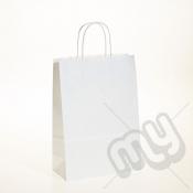 White Kraft Paper Bags with Twisted Handles - Medium x 25pcs