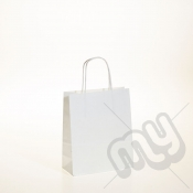 White Kraft Paper Bags with Twisted Handles - Small x 25pcs