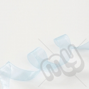 Sky Blue Organza Ribbon 25mm x 25 metres