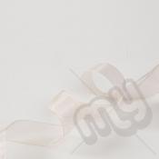 Champagne Organza Ribbon 25mm x 25 metres