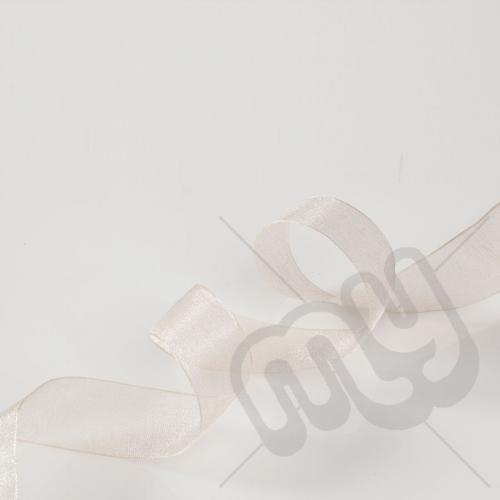 Champagne Organza Ribbon 15mm x 25 metres