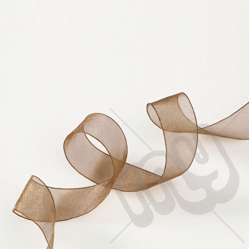 Chocolate Brown Organza Ribbon 25mm x 25 metres
