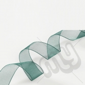Green Organza Ribbon 10mm x 25 metres