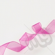 Fuschia Pink Organza Ribbon 15mm x 25 metres