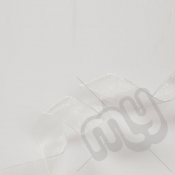 Ivory Organza Ribbon 10mm x 25 metres