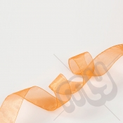 Orange Organza Ribbon 25mm x 25 metres