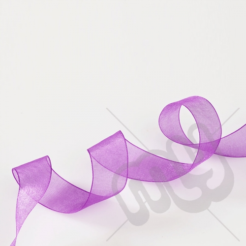 Purple Organza Ribbon 10mm x 25 metres