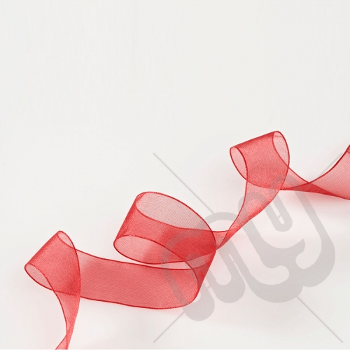 Red Organza Ribbon 15mm x 25 metres