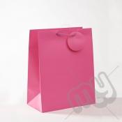 Fuscia Pink Luxury Matt Laminated Rope Handle Carriers- LARGE x 12pcs