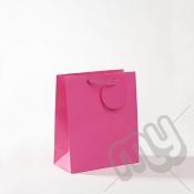 Fuscia Pink Luxury Matt Laminated Rope Handle Carriers- MEDIUM x 12pcs