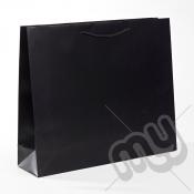 Black Luxury Matt Laminated Rope Handle Carriers - LARGE x 1pc
