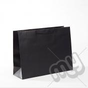 Black Luxury Matt Laminated Rope Handle Carriers - MEDIUM x 1pc