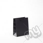 Black Luxury Matt Laminated Rope Handle Carriers - SMALL x 1pc