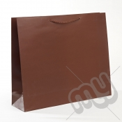 Brown Luxury Matt Laminated Rope Handle Carriers - LARGE x 1pc