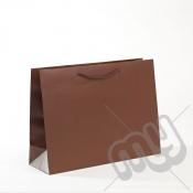 Brown Luxury Matt Laminated Rope Handle Carriers - MEDIUM x 1pc