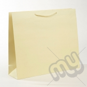 Cream Luxury Matt Laminated Rope Handle Carriers - LARGE x 1pc