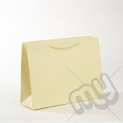 Cream Luxury Matt Laminated Rope Handle Carriers - MEDIUM x 1pc