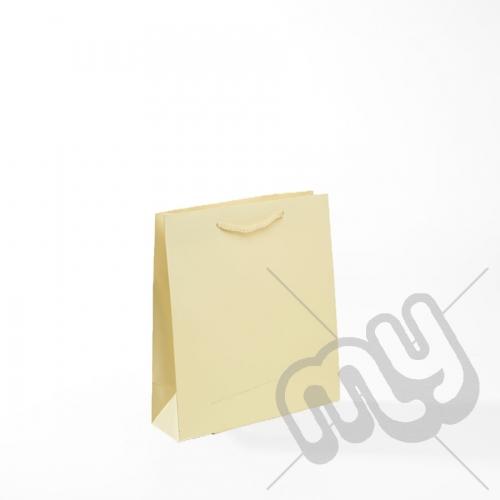 Cream Luxury Matt Laminated Rope Handle Carriers - SMALL x 50pcs