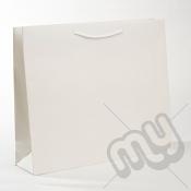 White Luxury Matt Laminated Rope Handle Carriers - LARGE x 1pc