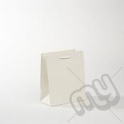 White Luxury Matt Laminated Rope Handle Carriers - SMALL x 1pc