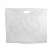 White Patch Handle Fashion Carrier Bags 55x45+8cm x 100pcs
