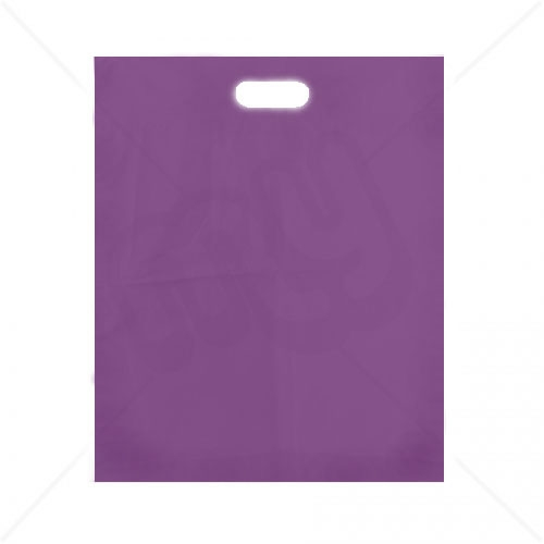 Purple Patch Handle Fashion Carrier Bags 38x46+8cm x 500pcs